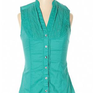 Express Design Studio sleeveless teal blouse XXS